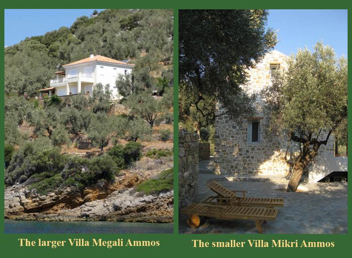 Two Villas on the Greek Island of Alonnisos for rent